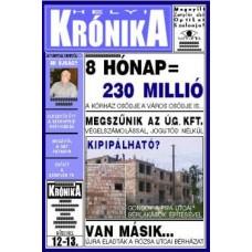 Helyi Krónika.Zemplén.1/1 felület-2018.